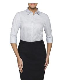 Van Heusen Womens 3/4 Sleeve Bust Fit Shirt