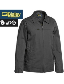 BISLEY Cotton Drill Water Repellant Jacket Warm Flannelette Lining Winter