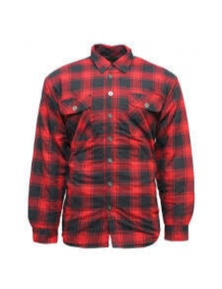 Bisley Men's Quilted Flannelette Shirt Cotton Padded Warm Winter Flannel - Red