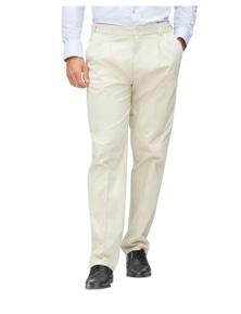 Bracks Mens Troyes Pleated Cotton Chino Pant