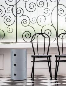 Retro Style Storage Drawer - Silver