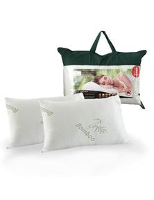 Royal Comfort Bamboo-Covered Memory Foam Pillow Twin Pack
