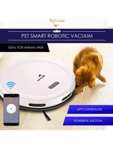 My Genie Pet Smart Robotic Vacuum Cleaner - White