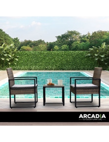 Arcadia Furniture 3 Piece Outdoor Patio Set
