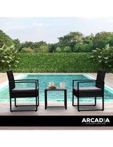 Arcadia Furniture 3 Piece Outdoor Patio Set