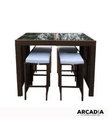Arcadia Furniture 5 Piece Bar Table Set