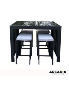 Arcadia Furniture 5 Piece Bar Table Set