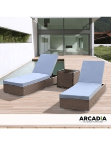 Arcadia Furniture 3 Piece Outdoor Sunlounge Set