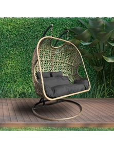 Arcadia Furniture 2 Person Rocking Hammock Egg Chair