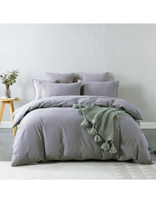 Royal Comfort Vintage Washed 100% Cotton Quilt Cover Set