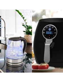 Kitchen Couture 5L Air Fryer + Pursonic Kettle Kitchen - Appliance Set