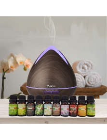 Purespa Diffuser + 10 Pack Oils - Wellness Set