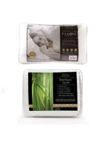 Royal Comfort 250GSM Bamboo Quilt + 1 x Royal Comfort Signature Hotel Pillow