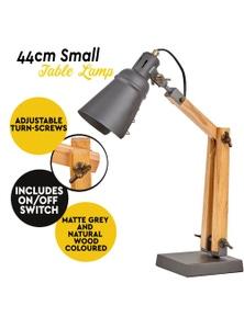 Wooden Frame Table Desk Nightstand Lamp Gappy Light Modern - Natural/Grey