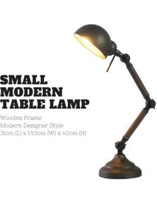 40cm Small Modern Bailer Shape Table Lamp Natural Modern Bedside Desk - Grey/Gold