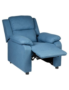 Erika Navy Blue Adult Recliner Sofa Chair Blue Lounge Couch Armchair Furniture