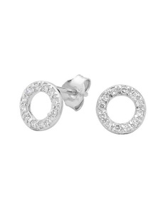 Georgini Baby Circle Cz Stud Earring Silver