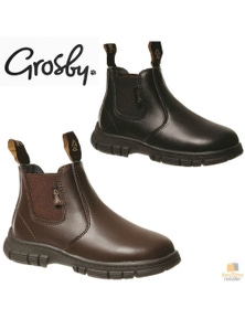 GROSBY Ranch Boots Pull On Shoes Kids Children's Infants Toddlers Childs New