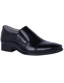Grosby Boys Tex Slip On Youth School Shoes Kids Childrens - Black