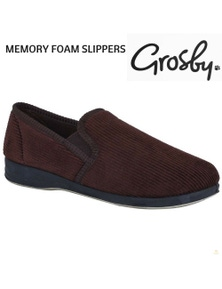 GROSBY Hotham Slippers Shoes Indoor Outdoor Cushion Moccasins New
