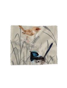 The Linen Press - Lens Cloth - Grasslands Blue Wren Two