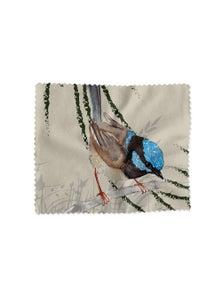 The Linen Press - Lens Cloth - Grasslands Blue Wren Single