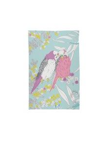 The Linen Press - Tea Towel Microfibre - Dawn Chorus Budgerigar Pair