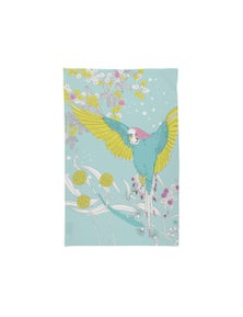 The Linen Press - Tea Towel Microfibre - Dawn Chorus Budgerigar in Flight