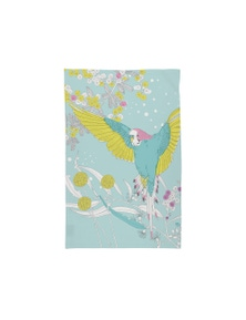 The Linen Press - Tea Towel Microfibre - Dawn Chorus Budgerigar in Flight