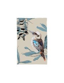The Linen Press - Tea Towel Microfibre - Kookaburra Illustration