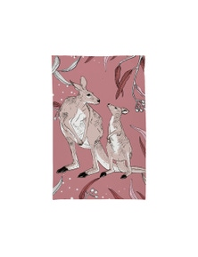The Linen Press - Tea Towel Microfibre - Dusk Gathering Kangaroo