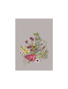 The Linen Press - Tea Towel Microfibre Native Floral Bunch