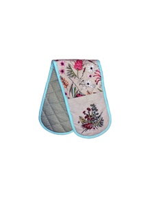 The Linen Press - Native Floral Double Mitt
