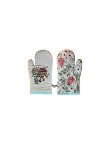 The Linen Press - Native Floral Single Mitt