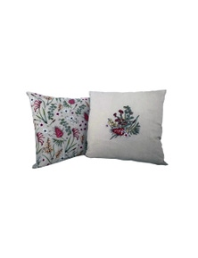 The Linen Press - Native Floral Cushion Cover