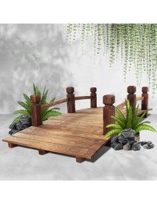Garden Wooden Rustic Bridge Decoration Decor Outdoor Landscape 160cm Length Rail