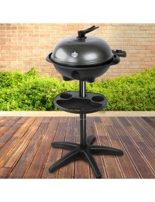 Outdoor Electric BBQ Smoker Kettle Barbeque Portable Grill Non Stick