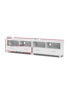 TV Cabinet Entertainment Unit Stand Storage Drawers 180cm Lowline
