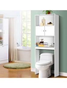 Bathroom Storage Cabinet Organiser Laundry Cupboard Toilet Shelf