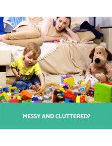 Keezi 12 Plastic Bins Kids Toy Organiser Box Bookshelf Storage Rack Cabinet