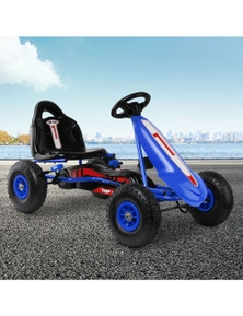 Rigo Kids Pedal Go Kart - Rubber Tyre Adjustable Seat