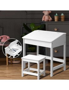 Artiss Kids Table and Chairs Set Children Drawing Writing Desk Storage Toys Play