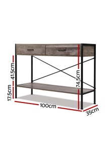 Hallway Console Table Wooden Entry Side Table Display Industrial