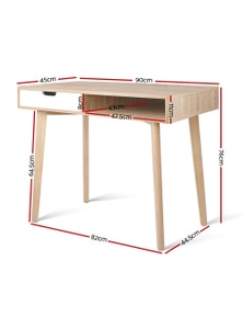 Office Computer Desk Study Table Storage Drawers Student Laptop Wood