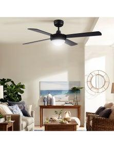Devanti 1300mm 52inch Ceiling Fan w/Light Remote Control - Black