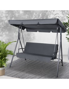 Gardeon Outdoor Swing Chair Hammock Bench Seat Canopy Cushion Furniture Grey