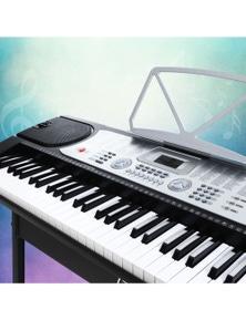 Alpha Digital Piano Keyboard - 61 Key Silver