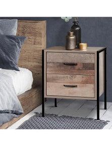 Artiss Bedside Tables - Wood Nightstand Storage Cabinet Bedroom