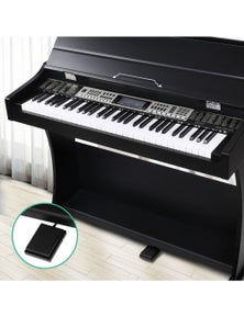 Alpha Digital Piano Keyboard Electronic Keyboard Electric Keyboard 61 Key & Pedal