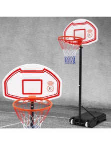 Everfit 2.1M Portable Basketball Hoop Stand Basketball System Adjustable Height Kids White